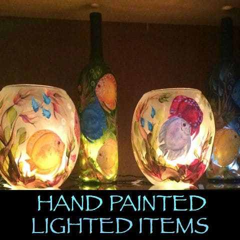 Lighted Bubble Bowls & Wine Bottles